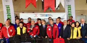 Syrian jacket donation ceremony