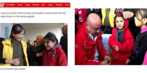 Donating winter jackets to Syrian child refugees